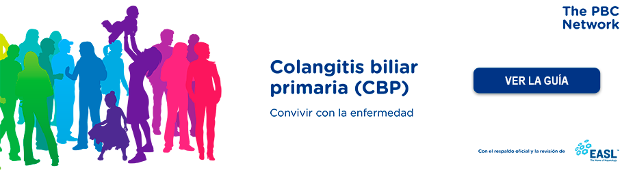 Baner de la guia colangitis biliar primaria realizada por PBC